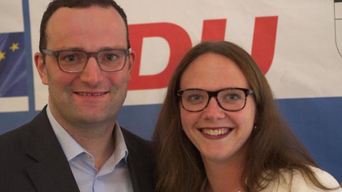 CDU-Landtagskandidatin Katharina Gebauer, Jens Spahn