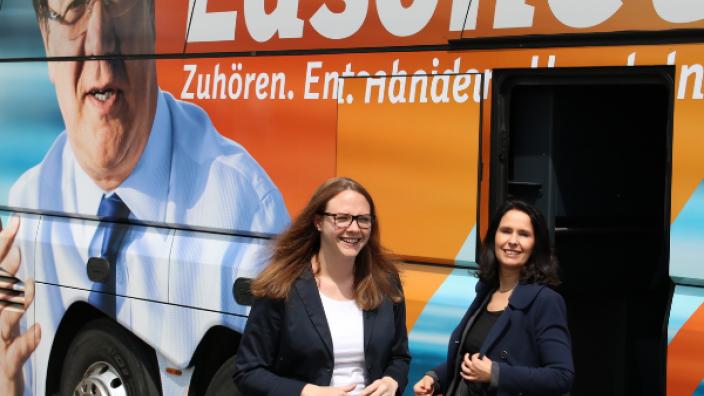 Katharina Gebauer empfing Armin Laschet in Mondorf