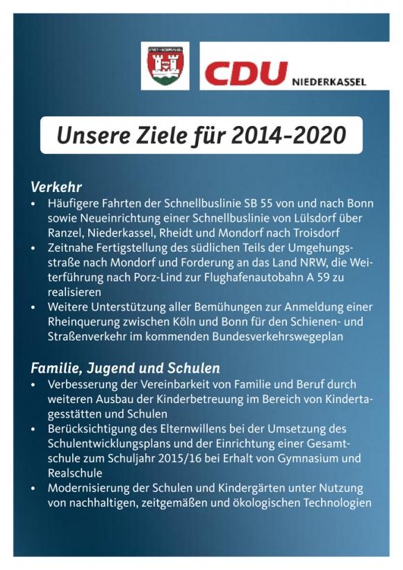 Unsere Ziele für 2014-2020